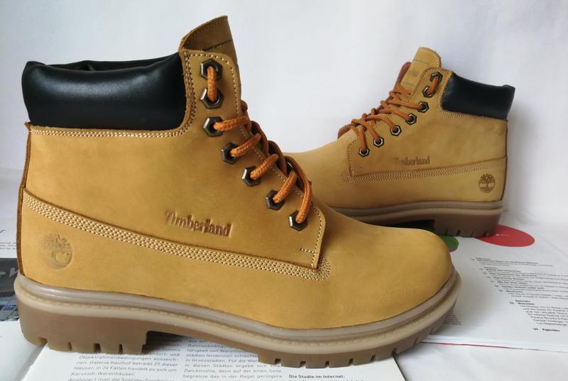 Натуральная кожа зимние мужские ботинки тимберленд натуральный... - Фото 5