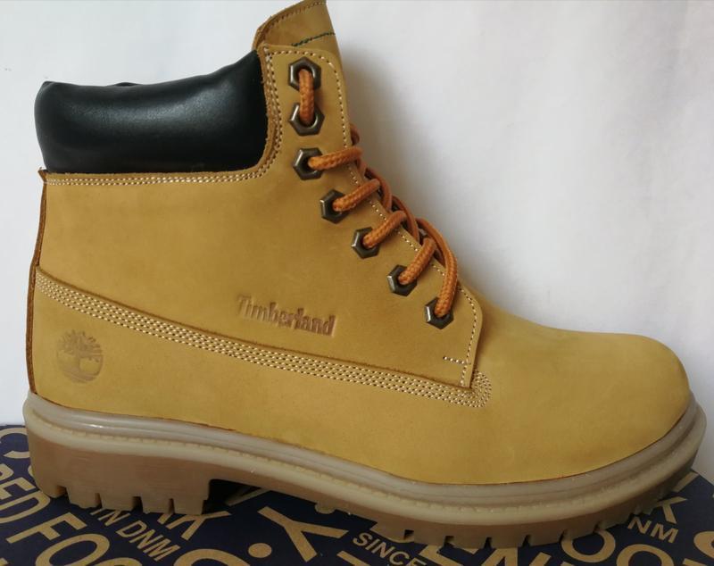 Натуральная кожа зимние мужские ботинки тимберленд натуральный... - Фото 6