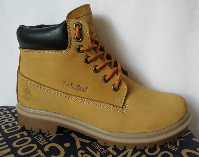 Натуральная кожа зимние мужские ботинки тимберленд натуральный... - Фото 7