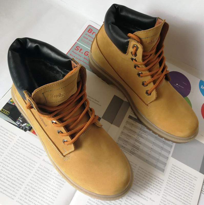 Натуральная кожа зимние мужские ботинки тимберленд натуральный... - Фото 10
