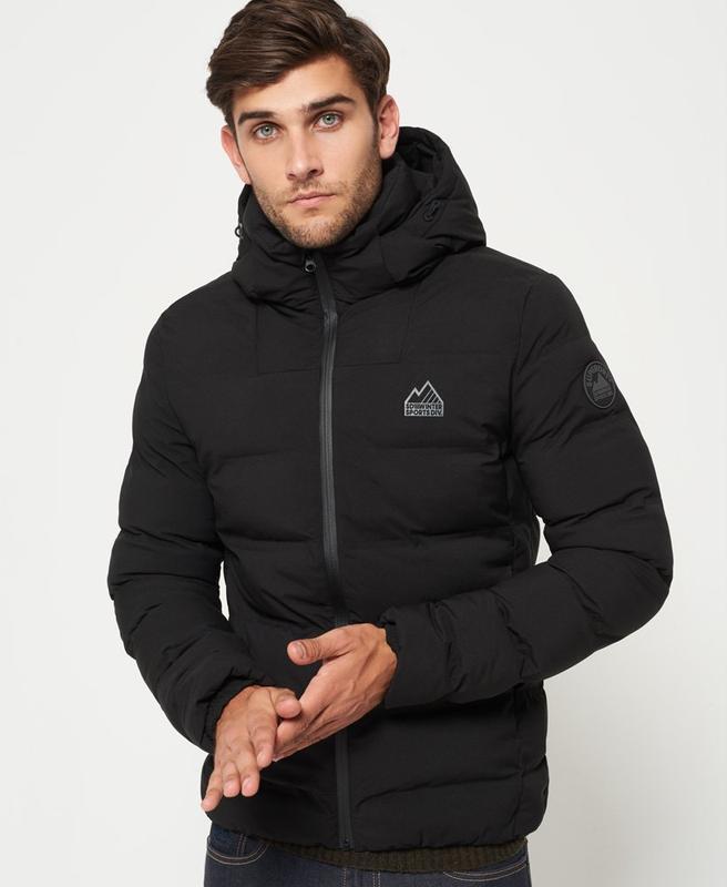 Зимняя тёплая мужская куртка superdry