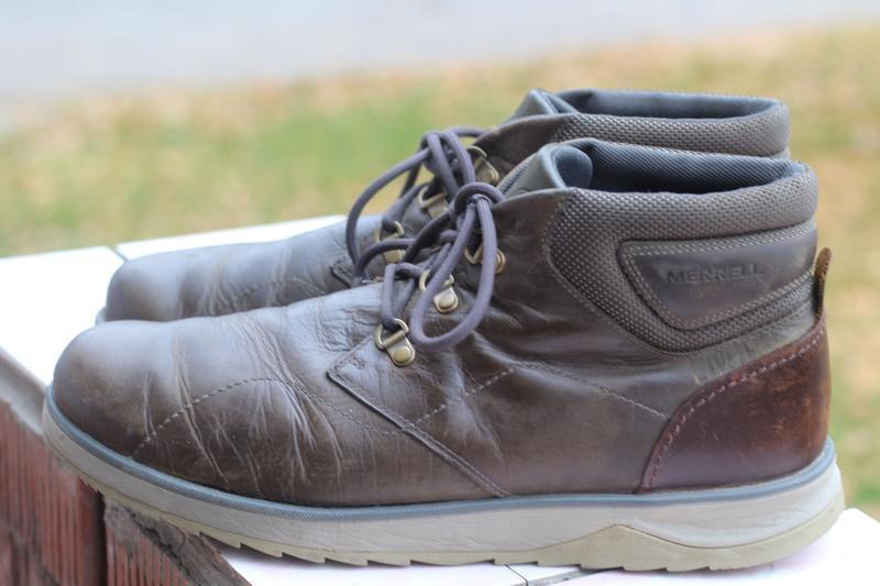 Утепленные кожаные ботинки merrell 45-46. вьетнам