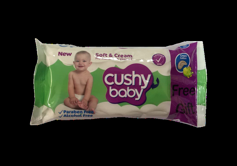 Детские влажные салфетки Cushy Baby W-40 C 40 шт