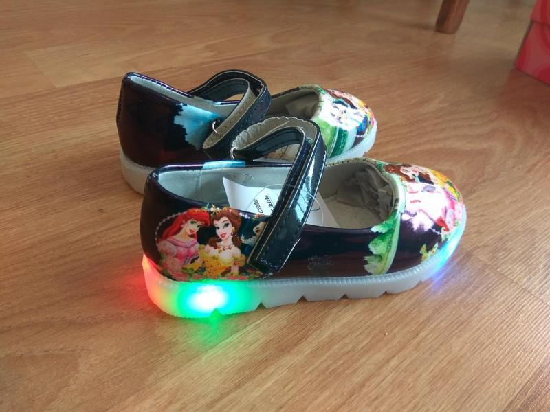 Туфли с подсветкой, р.26 - Фото 5