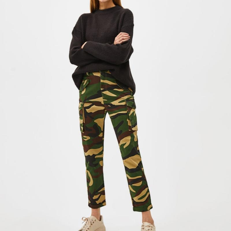Камуфляжные брюки карго  utility bershka