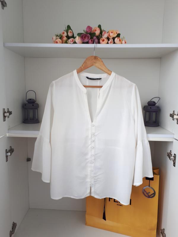 Красивая воздушная блузка zara - Фото 2
