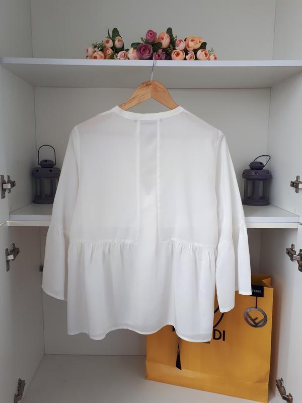 Красивая воздушная блузка zara - Фото 3