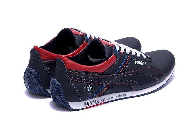 Мужские кожаные кроссовки Puma BMW MotorSport - Фото 5