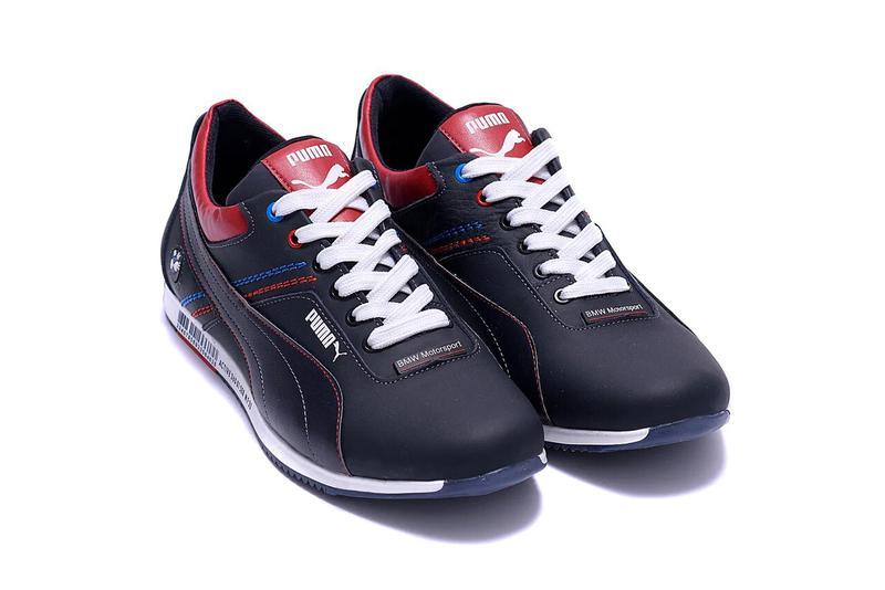 Мужские кожаные кроссовки Puma BMW MotorSport - Фото 8