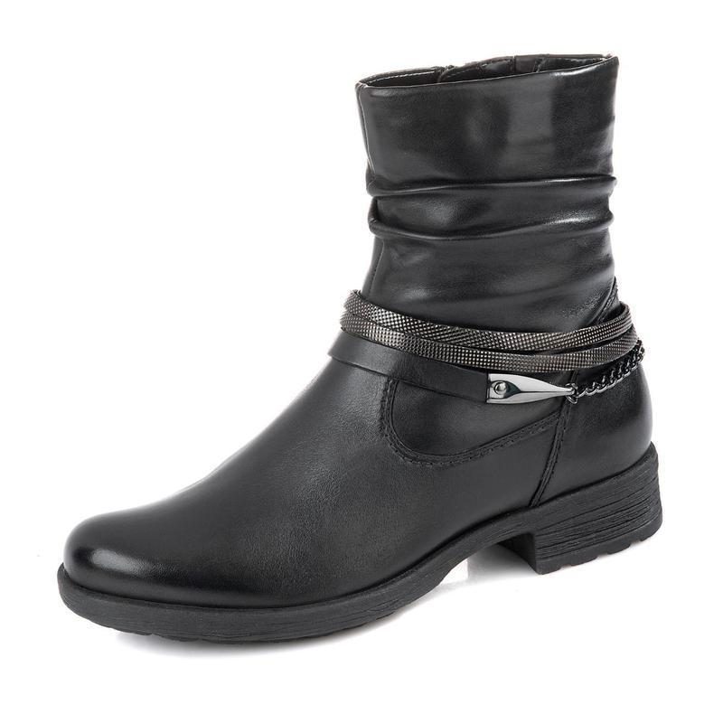 Кожаные ботинки на тракторной подошве 41/42 размер, 27 см стелька