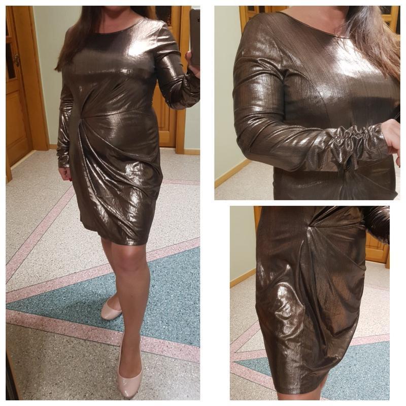 Короткое золотое блестящее платье miss selfridge