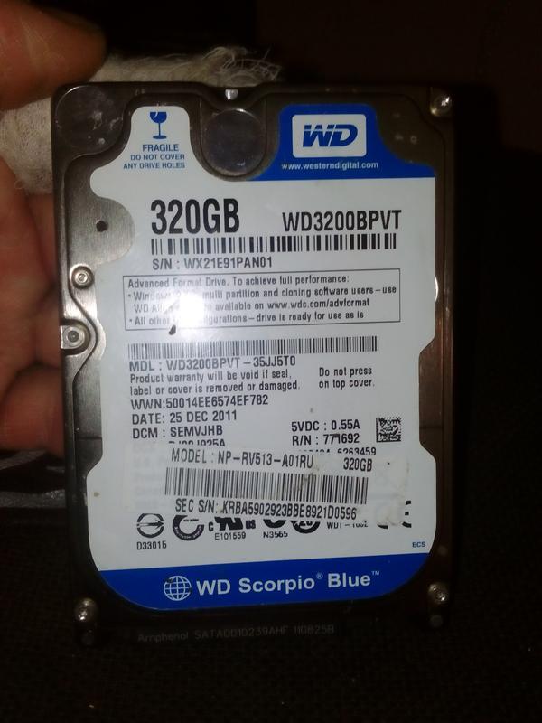Жесткий диск WD 320 гб