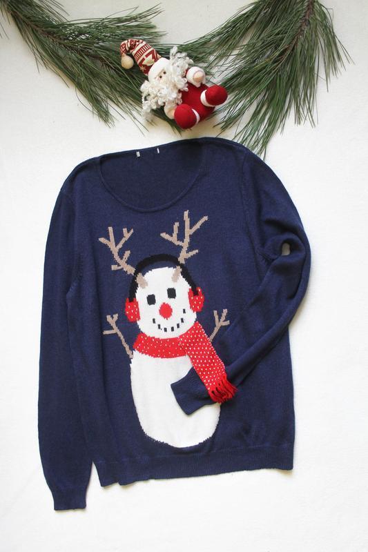 Женский новогодний свитер со снеговиком от tu (72), размер xl