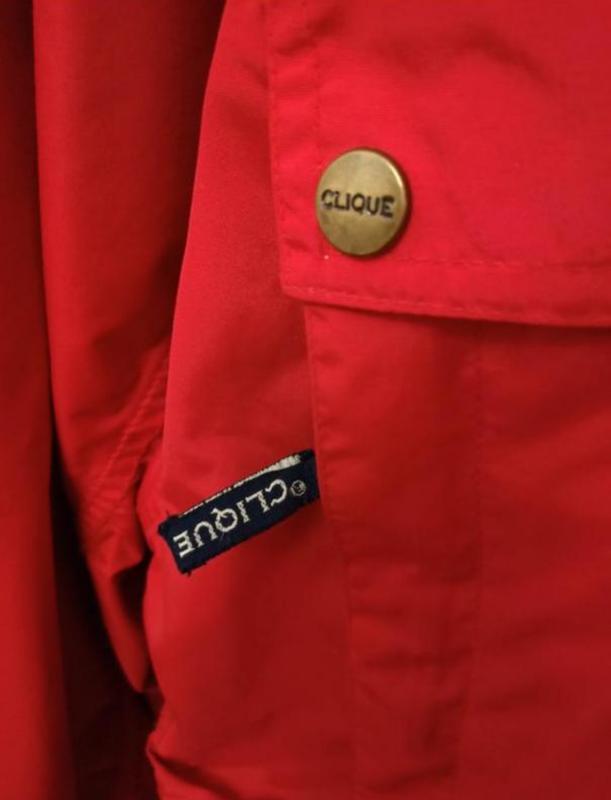 Мужская весенняя осенняя куртка ветровка дождевик clique - Фото 7