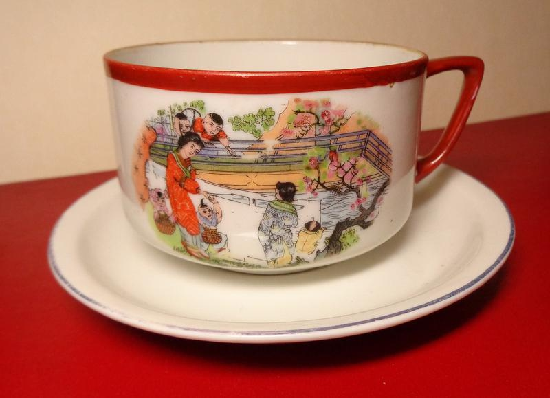 Раритет чашка блюдце Япония Будя фаянс