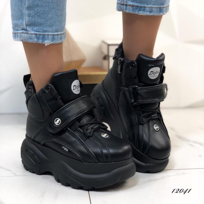 Массивные зимние кроссовки в стиле буффало,ботинки на высокой ...