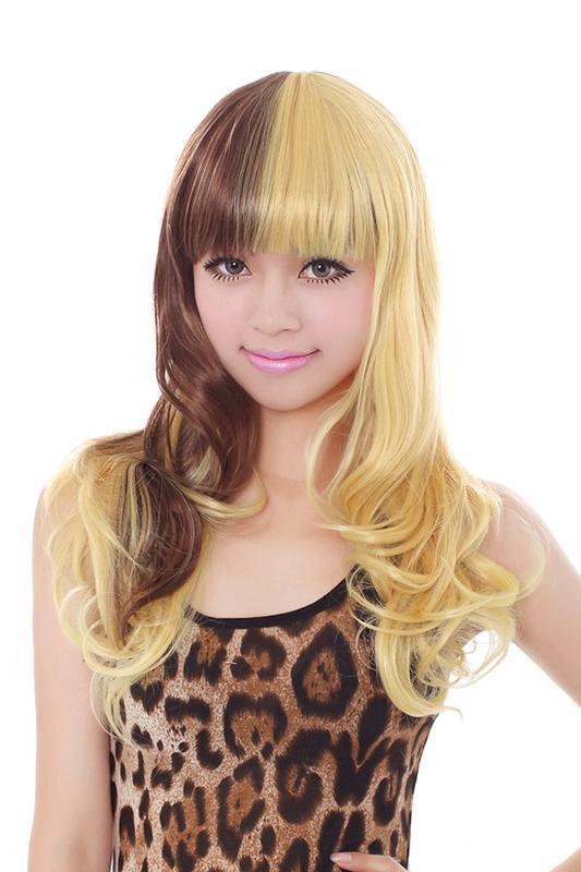 Парик коричневый микс желтый блонд новый с биркой косплей