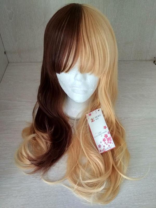 Парик коричневый двухцветный желтый блонд новый с биркой идеал...