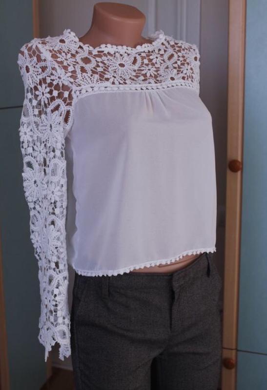 Нежная блуза блузочка в кружево