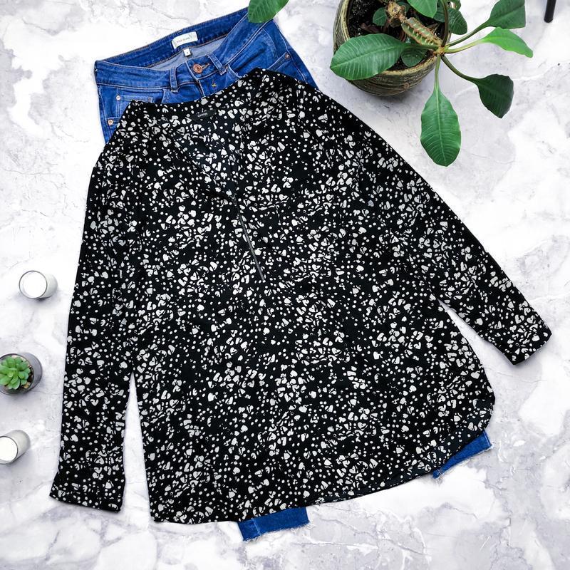 Шикарная блуза в принт большого размер