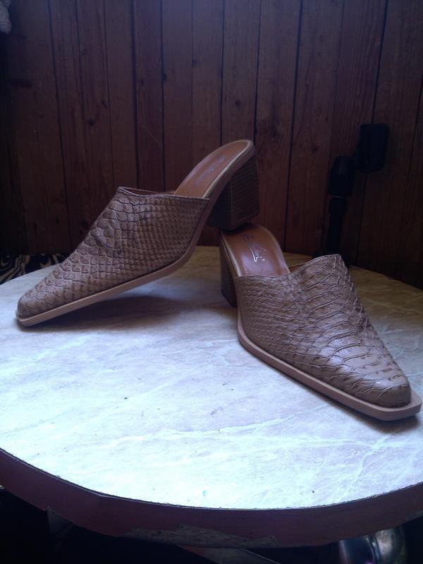 Новые,стильные,элегантные сабо-шлёпки под кожу питона, размер ... - Фото 2