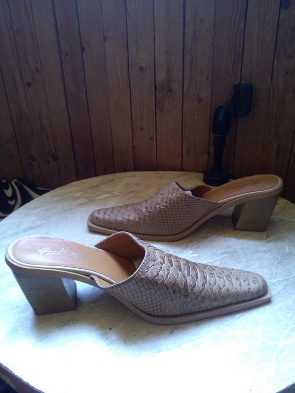 Новые,стильные,элегантные сабо-шлёпки под кожу питона, размер ... - Фото 3