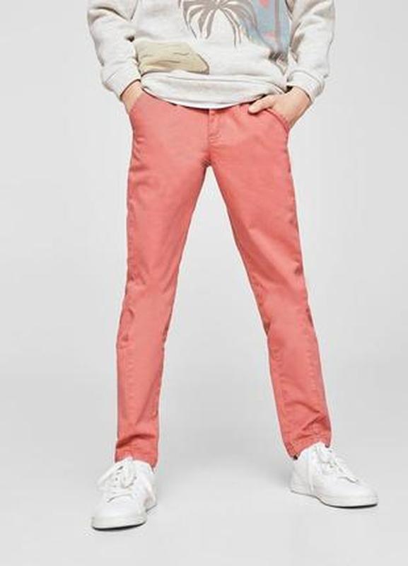 Стильные брюки, штаны чиносы mango для мальчика 9-10 лет, разм...