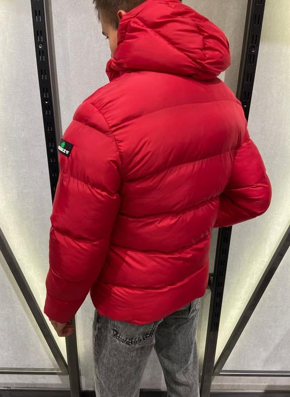 Куртка пуховик мужская стеганая красная турция / курточка чоло... - Фото 2