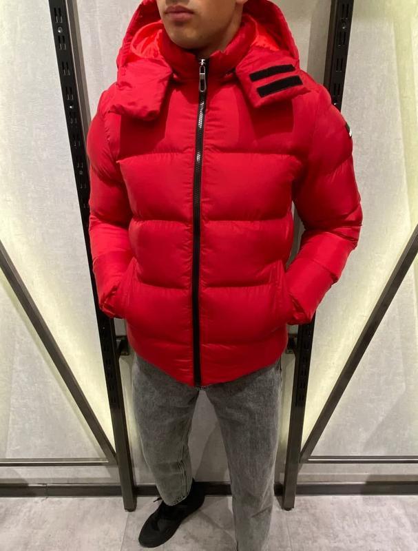 Куртка пуховик мужская стеганая красная турция / курточка чоло... - Фото 4
