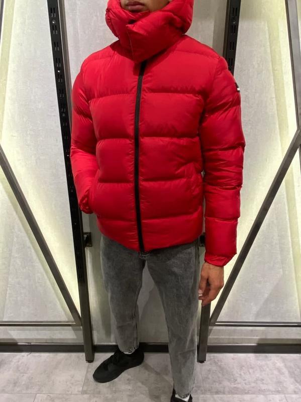 Куртка пуховик мужская стеганая красная турция / курточка чоло... - Фото 5