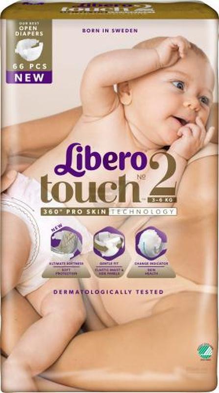 Памперсы Libero touch 2 (66 шт)
