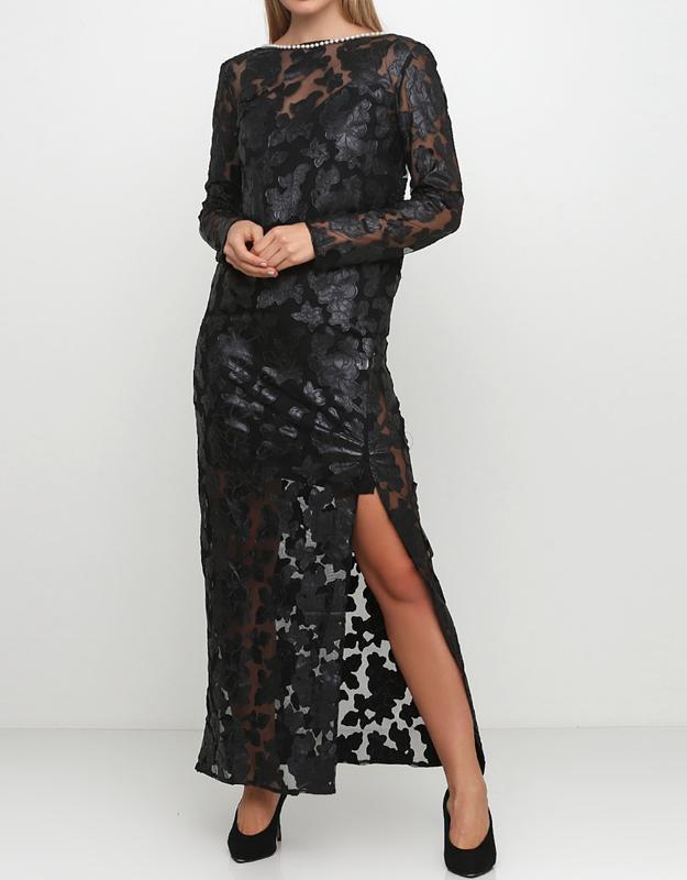 Андре тан. шикарное шёлковое кружевное вечернее платье.