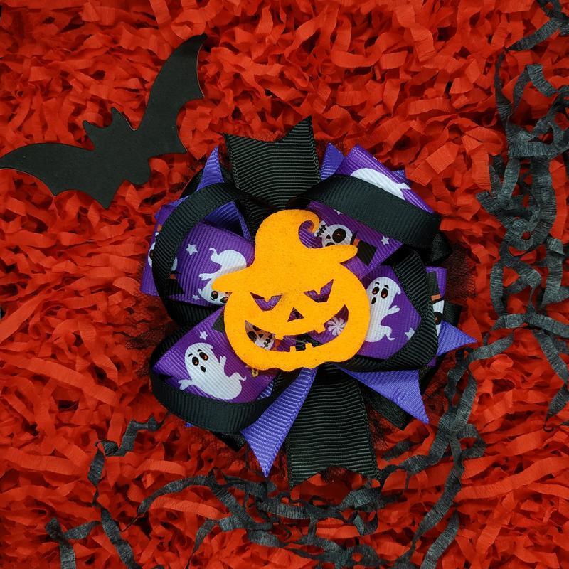 Бантик на резинке или заколке на хеллоуин
