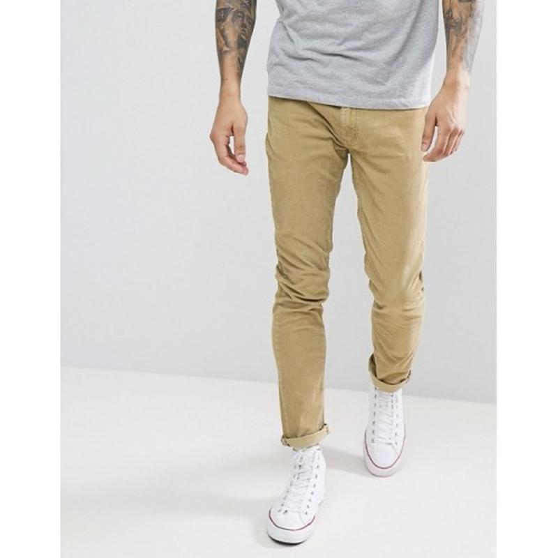 Брюки  джинсы на болтах цвета кемел