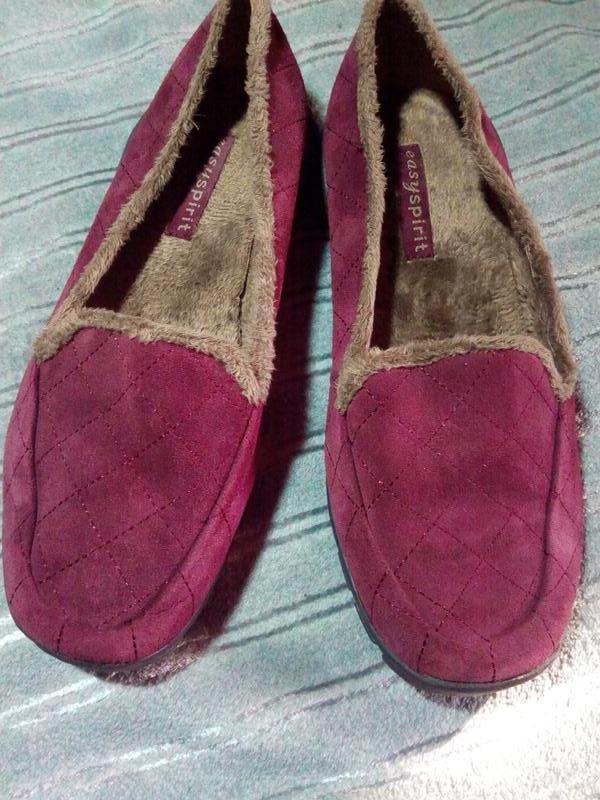 Качественные замшевые тапки туфли. easy spirit.