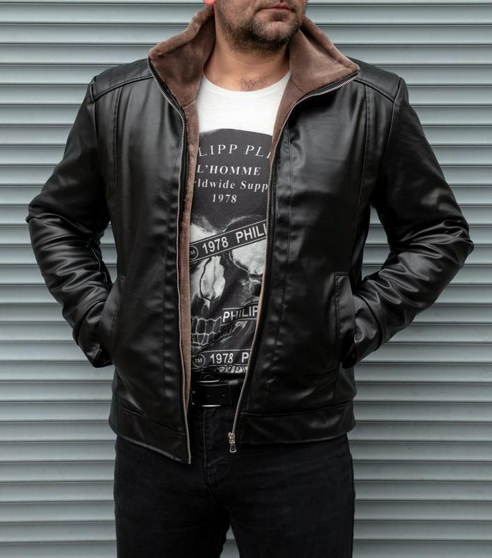 Зимняя кожаная куртка на меху - Фото 3