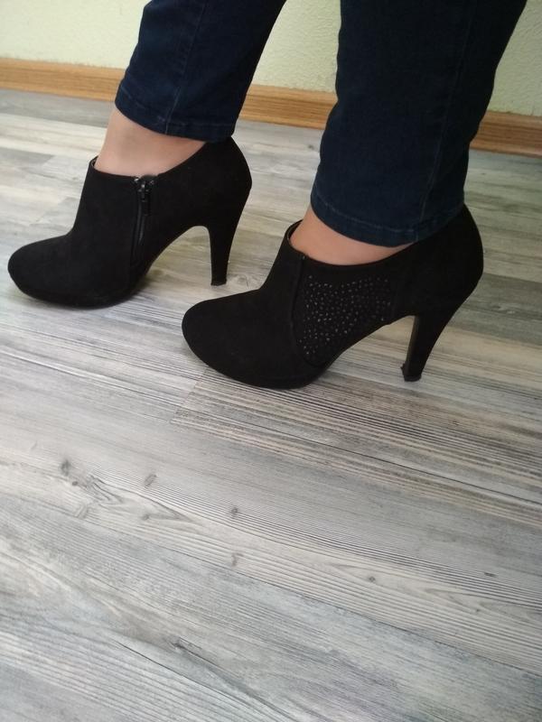 Черные туфли под замш -dorothy perkins -38р