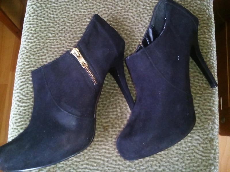 Черные туфли под замш -dorothy perkins -38р - Фото 3