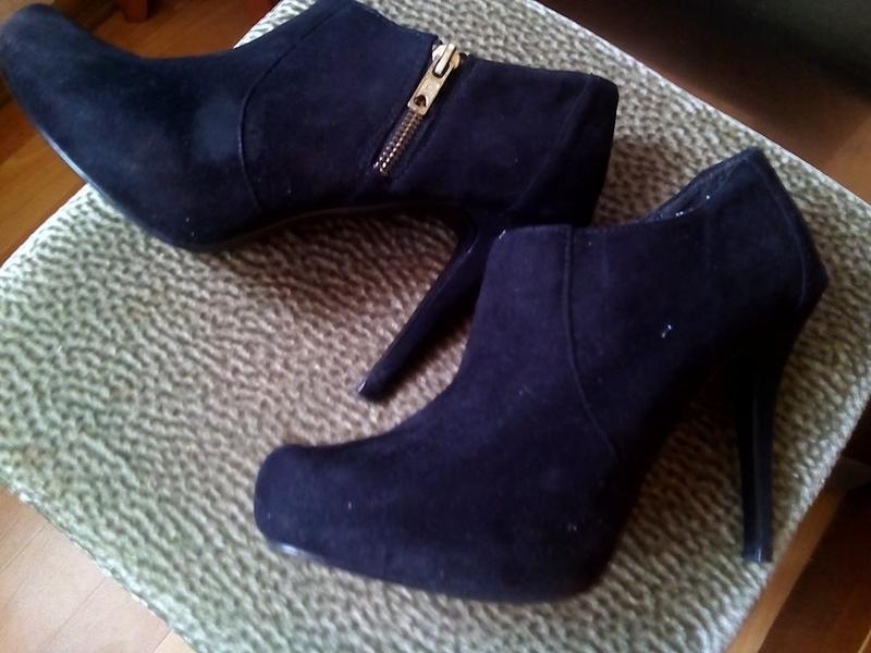 Черные туфли под замш -dorothy perkins -38р - Фото 4