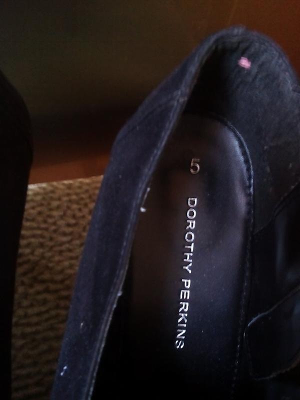 Черные туфли под замш -dorothy perkins -38р - Фото 6