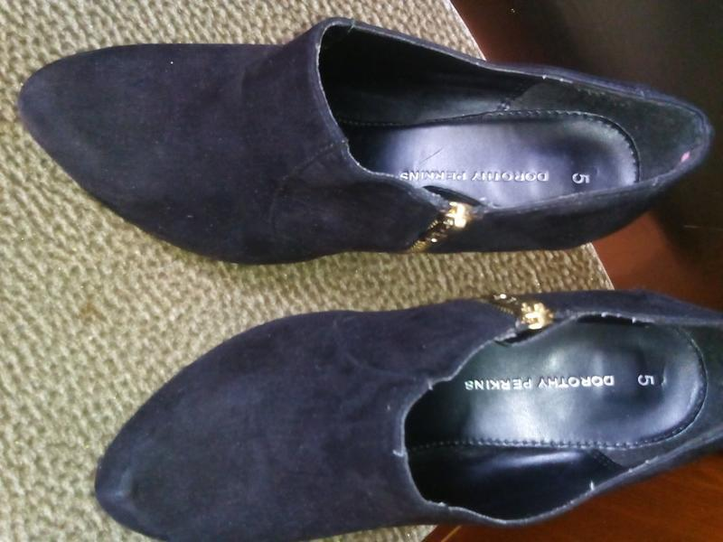 Черные туфли под замш -dorothy perkins -38р - Фото 7