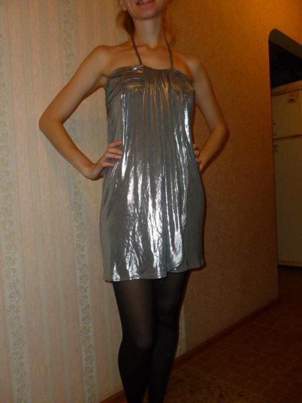 Диско ретро стиль 70х для вечеринок 2 в 1 платье и юбка цвет м...