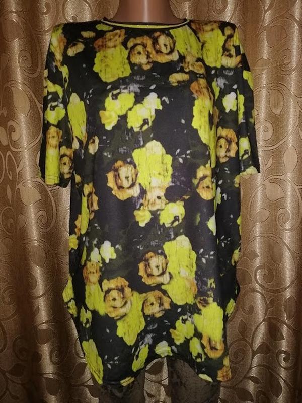 ????????????красивая женская футболка в цветочный принт atmosphere????????????