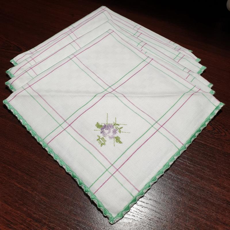 Винтажные салфетки с вышивкой