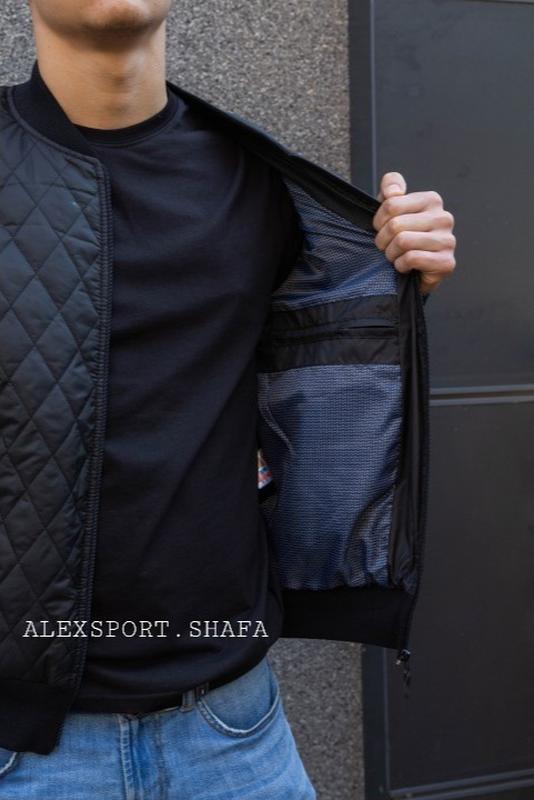 Бомбер куртка ветровка мужская демисезонная куртка весна осень - Фото 2