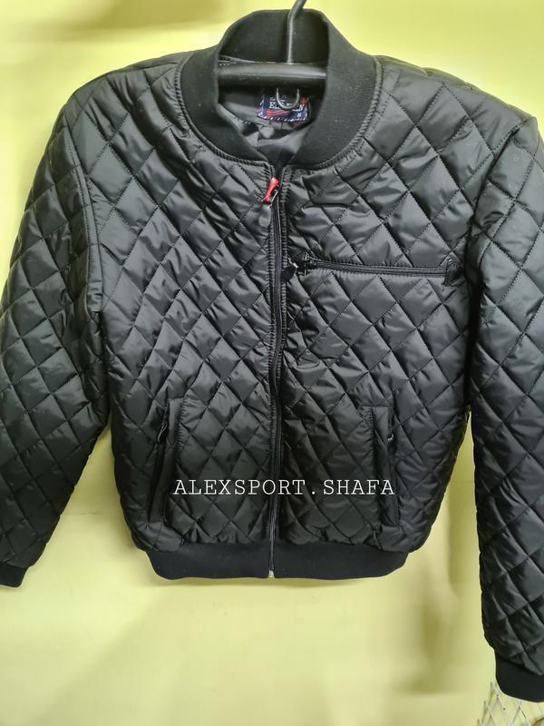 Бомбер куртка ветровка мужская демисезонная куртка весна осень - Фото 4