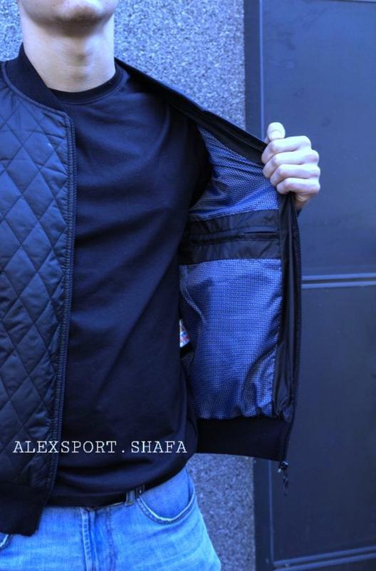 Куртка бомбер мужская демисезонная куртка весна осень - Фото 5