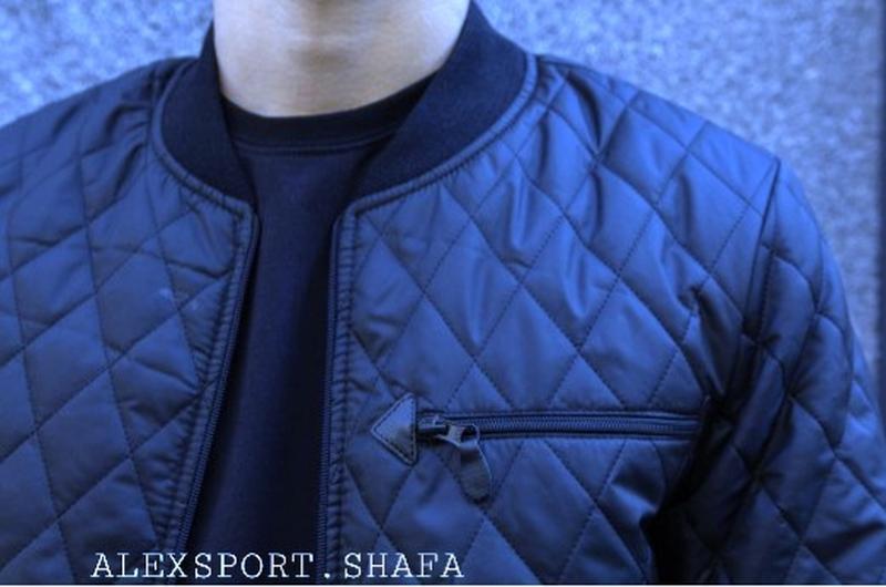 Куртка бомбер мужская демисезонная куртка весна осень - Фото 6