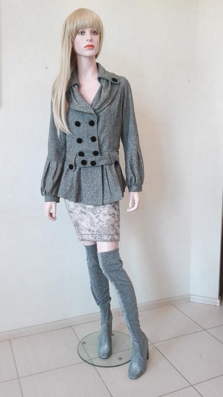 Элегантное короткое пальто корея - Фото 2