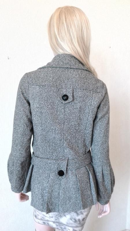 Элегантное короткое пальто корея - Фото 4